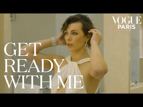 Milla Jovovich chooses her outfit for the amfAR Gala | Get Ready With Me | Vogue Paris