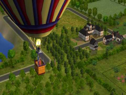 A Hot Air Balloon in Veronaville Sims 2