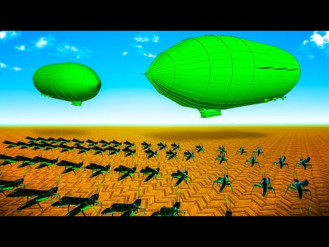 Green Army Men SUPER WEAPON Airships vs Thousands of BUGS - Home Wars - Army Men Bug Wars  