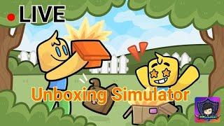 🔴 LIVE Roblox Unboxing Simulator