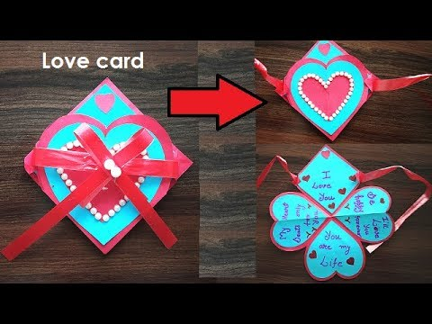 DIY - How to Make a Love Card For Loved Ones | I Love You Card Ideas