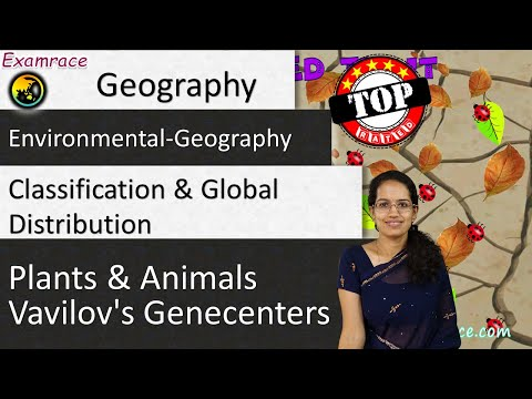 Classification & Global Distribution of Plants and Animals - Vavilov's Genecenters