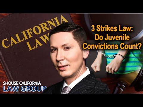3 Strikes Law: Do Juvenile Convictions Count?
