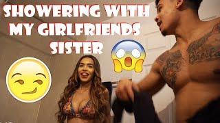 Girlfriend Shower sister asian