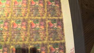 Pokemon UNCUT SHEET # 19 Promo TEST Holo - ANCIENT MEW! -