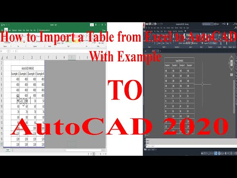 AutoCAD to Excel