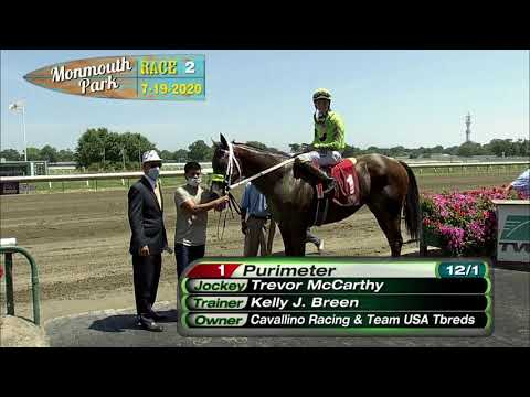 video thumbnail for MONMOUTH PARK 07-19-20 RACE 2