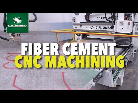 Onsrud Fiber Cement Solutions - Automated 3-Axis CNC Router line with Paint Marking & CNC machining.