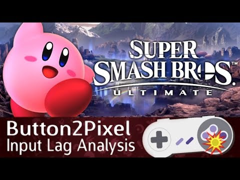 Smash Ultimate Input Lag Analysis (Button2Pixel)