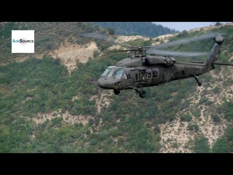 UH-60L Blackhawk Helicopters Fly Through Canyons of Colorado and Utah