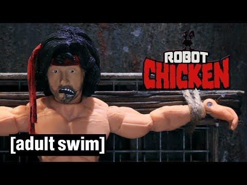 3 Rambo Moments | Robot Chicken | Adult Swim