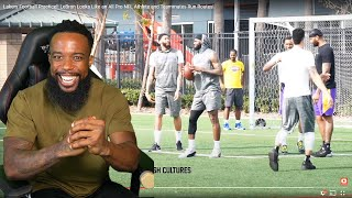 LEBRON COULD EASILY DESTROY THE NFL! Lakers Football Practice!!