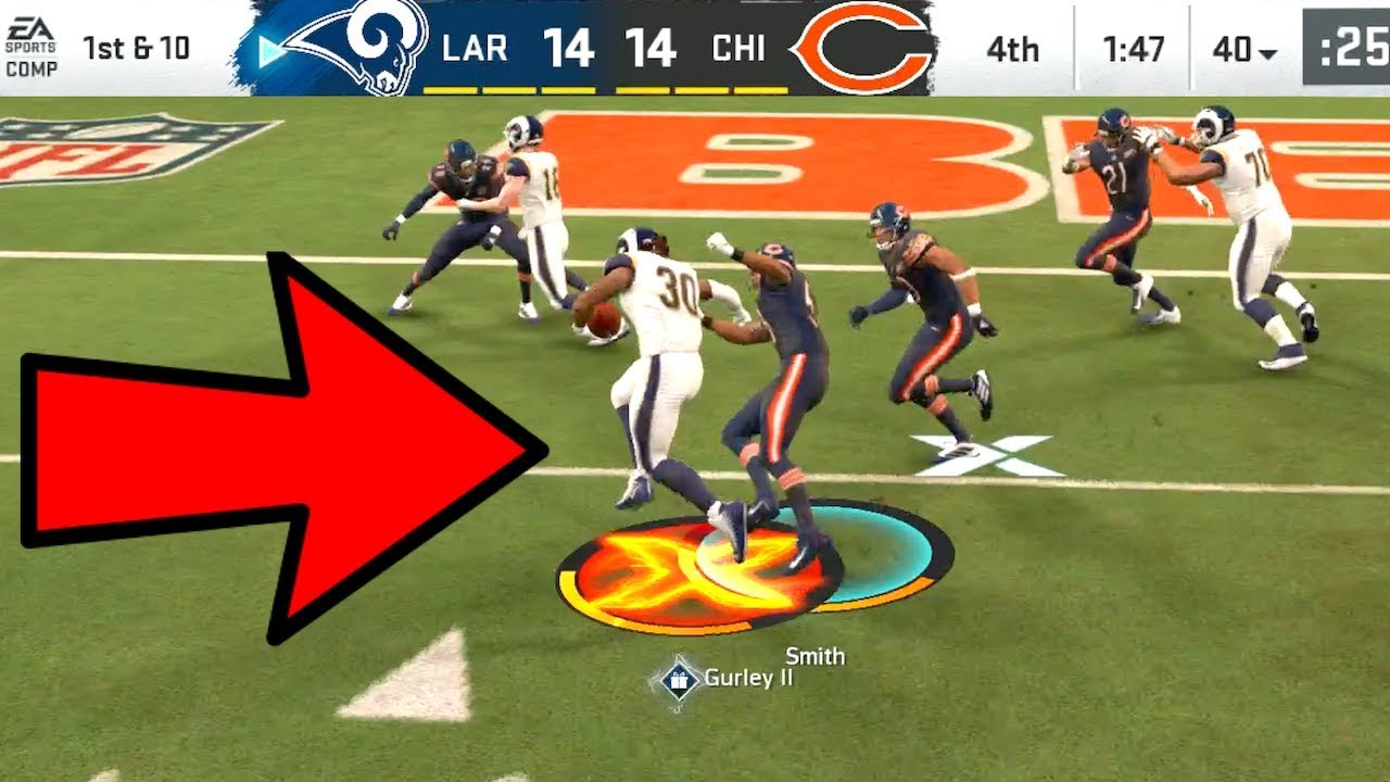 Todd Gurley First One Free Activated Rams Vs Bears Madden 20 Online Gameplay Youtube
