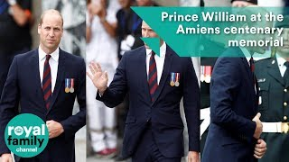 Prince William arrives at the Amiens centenary memorial service