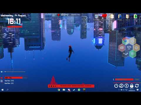 Spider Man Into The Spider Verse Theme Wallpaper / Rainmeter Config