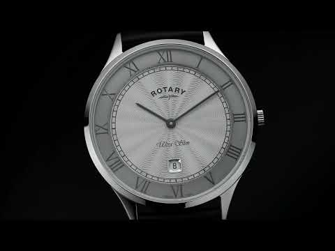 Rotary Stainless Steel Two Tone Ultra Slim Gents Quartz Watch GS08300/21