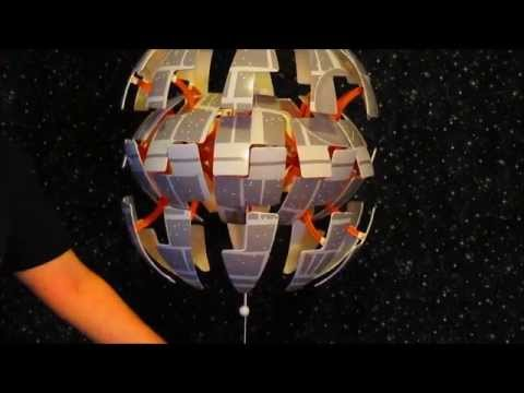 Ikea Death Star Lamp With Space Station Or Planet Vinyl Decals