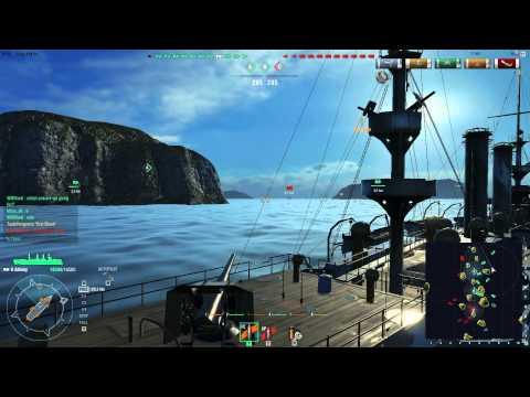 World Of WarShips Random Ships Gameplay