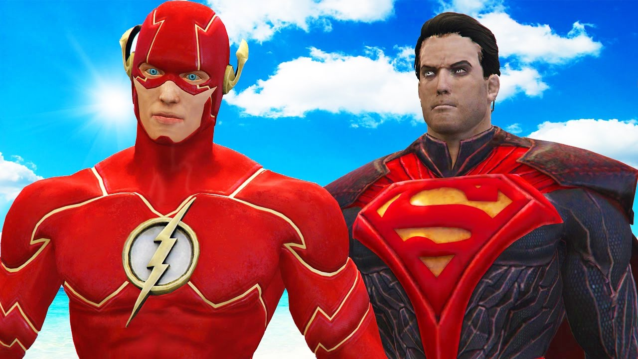 THE FLASH VS SUPERMAN REGIME - EPIC SUPERHEROES BATTLE ...