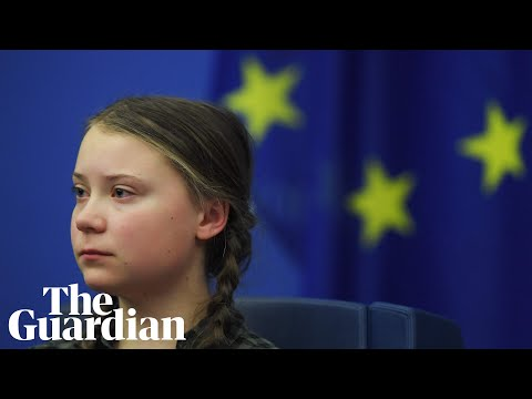 Greta Thunberg's emotional speech to EU leaders