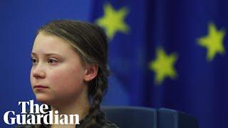 Greta Thunberg's emotional speech to EU leaders