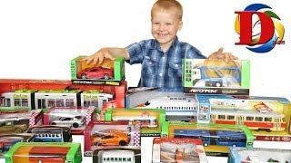 Открываем игрушки машинки. Мультик про Машинки. Городской трамвай, метро, поезд. Обзор Игрушки.