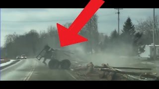 TRUCK CRASHES AND FAILS (slow down no freight is worth a life)