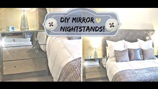 DIY Mirror Nightstands FOR THE LOW!!!
