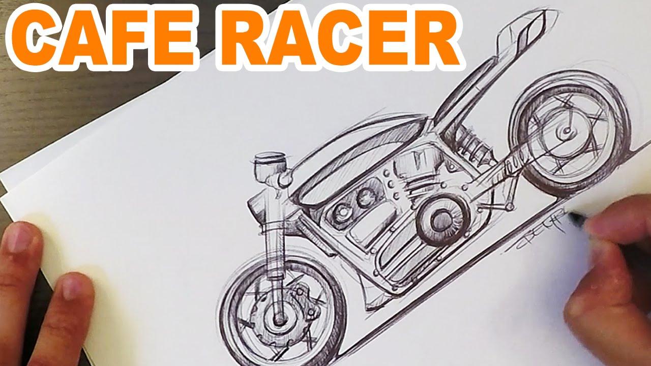 Cafe Racer Sketch Youtube