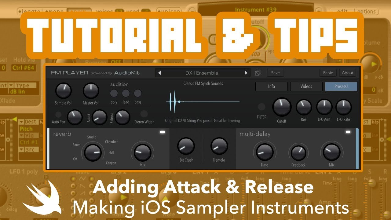 Tutorial & iOS Dev Tips: Building iOS Music Sample Instruments w/ Attack &  Release