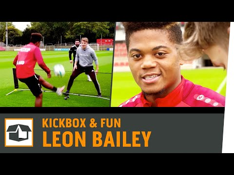 Fussball-Tennis Challenge vs. Leon Bailey | Bayer 04 Leverkusen | Fun-Challenge | Kickbox