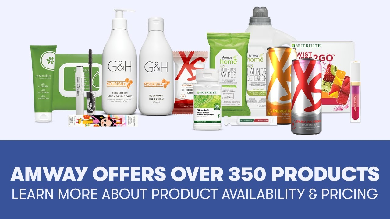 Amway Offers Over 350 Products