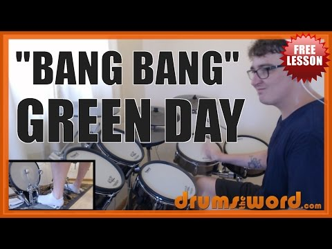 ★ Bang Bang (Green Day) ★ FREE Drum Lesson | How To Play Drum SOLO (Tre Cool)
