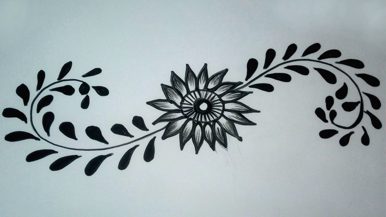How To Draw A Flower Designs Simple Flower Tattoo Designs With Marker Pen Youtube