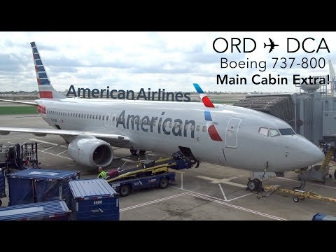 TRIPREPORT | American Airlines | Chicago to Washington DCA | Boeing 737-800 | Main Cabin Extra!