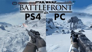 Star Wars Battlefront BETA | PC vs PS4 | 4k vs 1080p ULTRA Gameplay Comparison