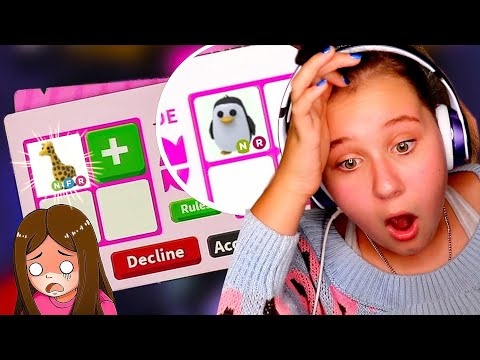 I Played The One Color Trading Challenge With My Friend Roblox Adopt Me Youtube