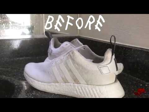 How To Clean White Shoes - Triple White NMD ULTRABOOST ADIDAS JORDANS