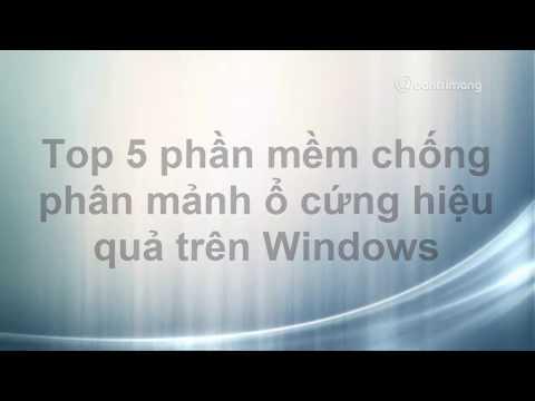 Top 5 phần mềm chống phân mảnh ổ cứng tốt nhất, hiệu quả nhất