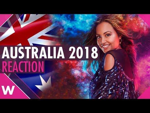 "Australia   Eurovision 2018 reaction   Jessica Mauboy ""We Got Love"""