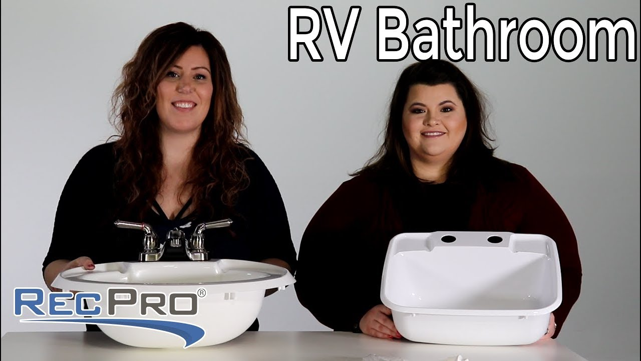 RV Bathroom Faucet and Sink - RecPro - YouTube