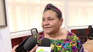 Gobernadora y nobel de paz Rigoberta Menchú piden sensibilidad a empresarios y condenan el rearme