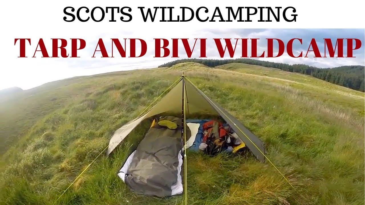 Wild c&ing Scotland Rab SilTarp 2 u0026 Rab Ascent Bivi bag at Kilpatrick hills. & Wild camping Scotland Rab SilTarp 2 u0026 Rab Ascent Bivi bag at ...