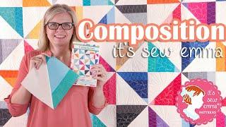 Composition by It's Sew Emma   Modern Quilt Project   Fat Quarter Shop