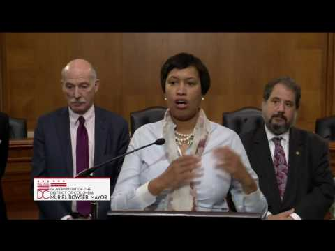 Mayor Bowser Joins Rep. Norton to Announce Introduction of Washington, DC Admission Act, 3/1/17