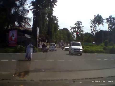 Guy Crossing Red Light At SH Junction Changanassery