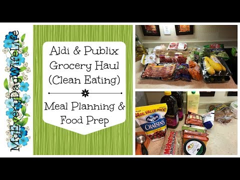 Aldi & Publix Grocery Haul  | Meal Planning & Food Prep