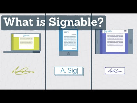 How to send an electronic document - What is Signable?