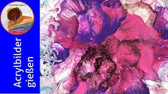 Pouring Acrylic deutsch: Florales Motiv, Kundenauftrag! 🎨 Floral Motive, A Commission