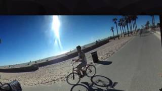 360 video riding da saddle beach cruiser seat from hb to newport
